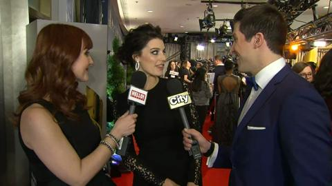 Mad Men's Jessica Pare on the CSA red carpet
