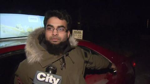 Taxi driver spots black bear in Markham