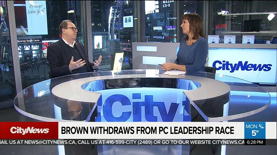 Brown to withdraw from PC Leadership Race