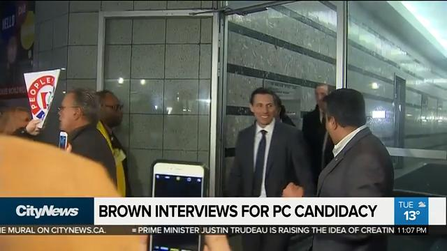 Patrick Brown interviews for PC candidacy