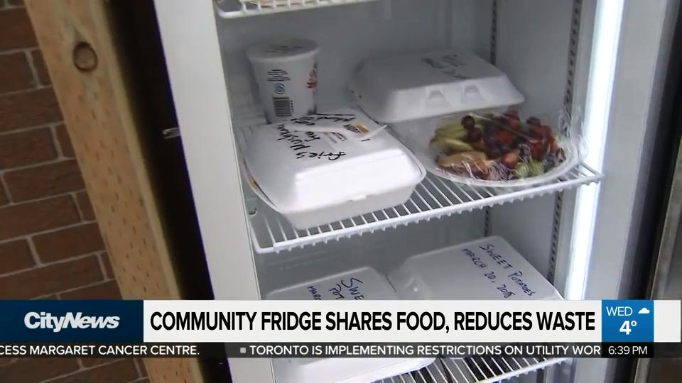 Community fridge shares food, reduces waste