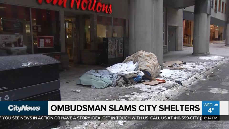 Toronto's ombudsman slams city over handling of shelters