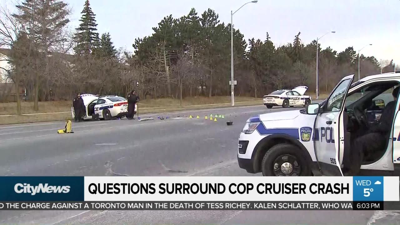 Questions surround Brampton crash involving two Peel police cruisers
