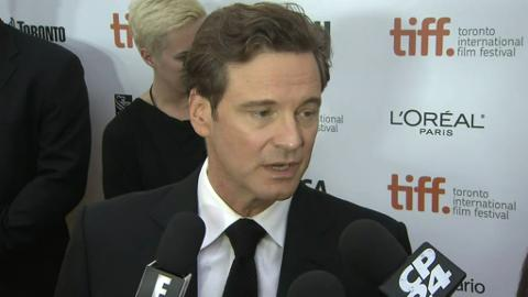 Raw video: Colin Firth talks about 'The Railway Man' at TIFF